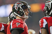 20 January 2013: Quarterback (2) Matt Ryan of the Atlanta Falcons against the San Francisco 49ers during the second half of the 49ers 28-24 victory over the Falcons in the NFC Championship Game at the Georgia Dome in Atlanta, GA.