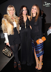 Princess Elizabeth von Thurn und Taxis (left),Camilla Fayed and Dasha Zhukova at the Issa show at London Fashion Week, Spring/Summer 2012 ,Saturday, 17th September 2011 Photo by: Stephen Lock/i-Images
