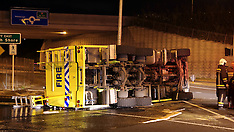Auckland-Whenuapai Airport Fire tender rolls on way to rubbish fire