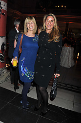 Left to right, KATE GARRAWAY and CLAIRE SWEENEY at the 50th birthday party for Jonathan Shalit held at the V&A Museum, London on 17th April 2012.