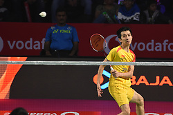 January 13, 2018 - Hyderbad, Telangana, India - C.W.Feng of Bengaluru Blasters in against S Verma of Ahmedabad Smash Masters in 2nd Semi Final Bengaluru Blasters Vs Amhedabad Smash Masters (Credit Image: © Varun Kumar Mukhia/Pacific Press via ZUMA Wire)