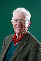 Edinburgh. UK. 18th August. Edinburgh International Book Festival. Day 4 Edinburgh International Book Festival takes place in Charlotte Square Gardens. Pictured Richard Layard. Pako Mera