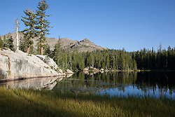"""Five Lakes 8"" - Early morning photograph of one of the Five Lakes in the Tahoe area."