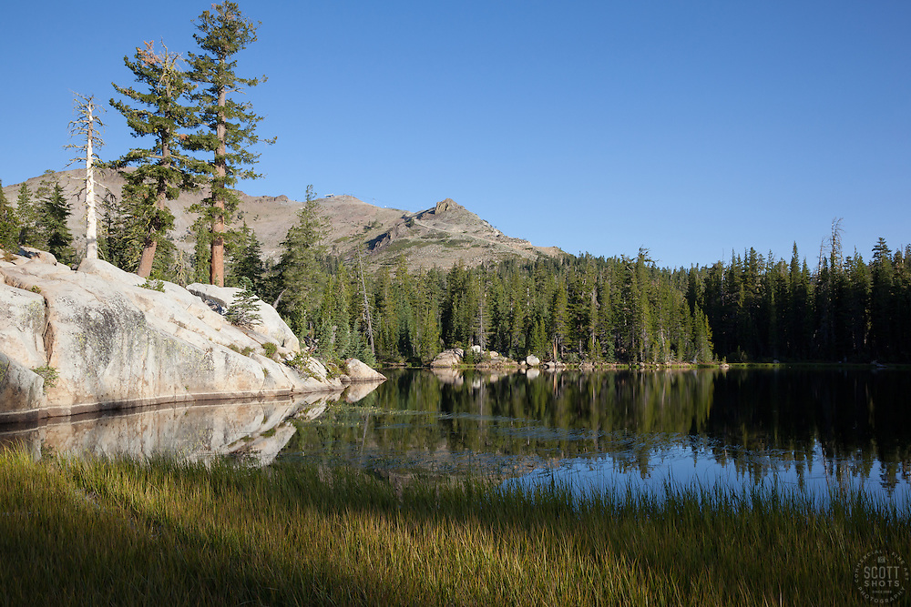 """""""Five Lakes 8"""" - Early morning photograph of one of the Five Lakes in the Tahoe area."""