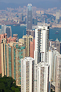 Asia, Southeast, People's Republic of China, Hong Kong. Dense High-rise buildings