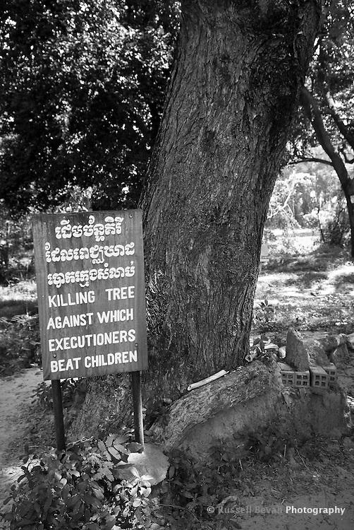 The Killing Tree at Choeung Ek, 17 km South of Phnom Penh, Cambodia