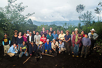 FAFG staff, IFIFT students, local workers, survivors, their family and friends gather for a group photo following a day long exhumation .Using survivor testimonies the team seek the remains of victims of the military and police forces during the Guatemalan Civil War. FAFG staff will assist with the digs and perform the final exhumation once the remains are located. Since FAFG began its operation in Quiche,  thousands of bodies have been recovered. Out of the more than 200,000 people that were killed or disappeared during the civil war, 83% were indigenous.