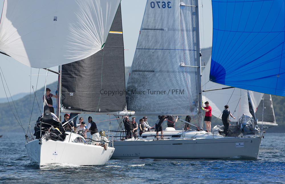 Silvers Marine Scottish Series 2017<br /> Tarbert Loch Fyne - Sailing<br /> <br /> RC35 Class with IRL3061, Fools Gold, Robert McConnell, A35