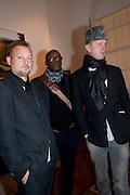 JUERGEN TELLER; CHARLES ABOAH; JOHNNY SHAND-KYDD, Dazed & Confused 20th Anniversary Exhibition. Somerset House. London. 3 November 2011<br /> <br />  , -DO NOT ARCHIVE-© Copyright Photograph by Dafydd Jones. 248 Clapham Rd. London SW9 0PZ. Tel 0207 820 0771. www.dafjones.com.