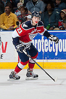 KELOWNA, CANADA - MARCH 23: Justin Gutierrez #23 of the Tri-City Americans skates against the Kelowna Rockets on March 23, 2014 during game 2 of the first round of WHL Playoffs at Prospera Place in Kelowna, British Columbia, Canada.   (Photo by Marissa Baecker/Getty Images)  *** Local Caption *** Justin Gutierrez;