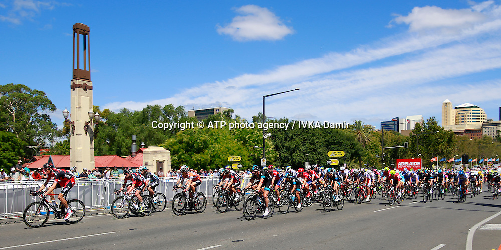 2015 Santos Tour Down Under. Adelaide. Australia.Sunday 25.1.2015. <br /> Stage 6. Adelaide Street Circuit.90km<br /> &copy; ATP / Damir IVKA<br />  - Tour Down Under Australia 2015, Cycling, road race, Radrennen, Australien -  Radsport - Rad Rennen -<br /> - fee liable image: copyright &copy; ATP - IVKA Damir