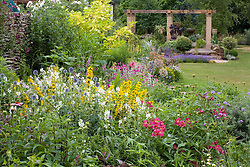 Summer border  in John Massey's garden at Ashwood Nurseries