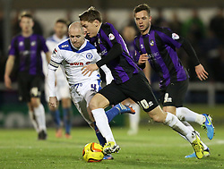 Bristol Rovers' Eliot Richards in action - Photo mandatory by-line: Matt Bunn/JMP - Tel: Mobile: 07966 386802 29/12/2013 - SPORT - FOOTBALL - Spotland Stadium - Rochdale - Rochdale v Bristol Rovers - Sky Bet League Two