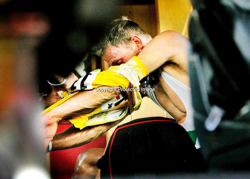 Valkenbourg, 20060604. Tour de France. Thor Hushovd mistet den gule ledertrøya til Tom Boonen. Tar han av seg trøya i teambussen etter rittet 4. ....Foto: Daniel Sannum Lauten / Dagbladet *** Local Caption *** Hushovd,Thor..