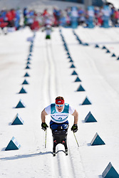 CNOSSEN Daniel USA LW12 competing in the ParaSkiDeFond, Para Nordic Skiing, Sprint at  the PyeongChang2018 Winter Paralympic Games, South Korea.
