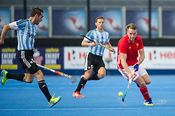 England's Chris Griffiths. England v Argentina - Hockey World League Semi Final, Lee Valley Hockey and Tennis Centre, London, United Kingdom on 18 June 2017. Photo: Simon Parker
