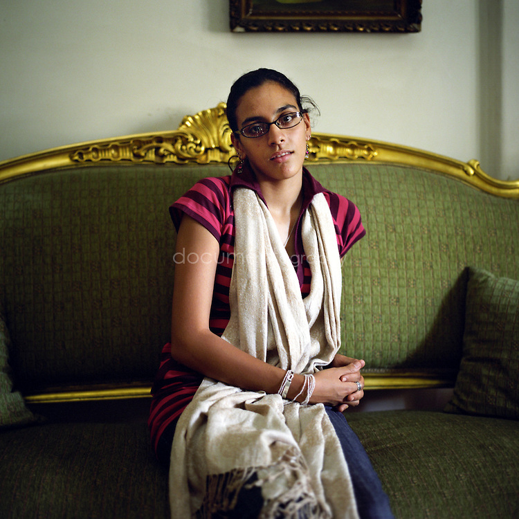 Mariam Abou Gaze, 18, single, at her grand mother's home, Cairo, Egypt.