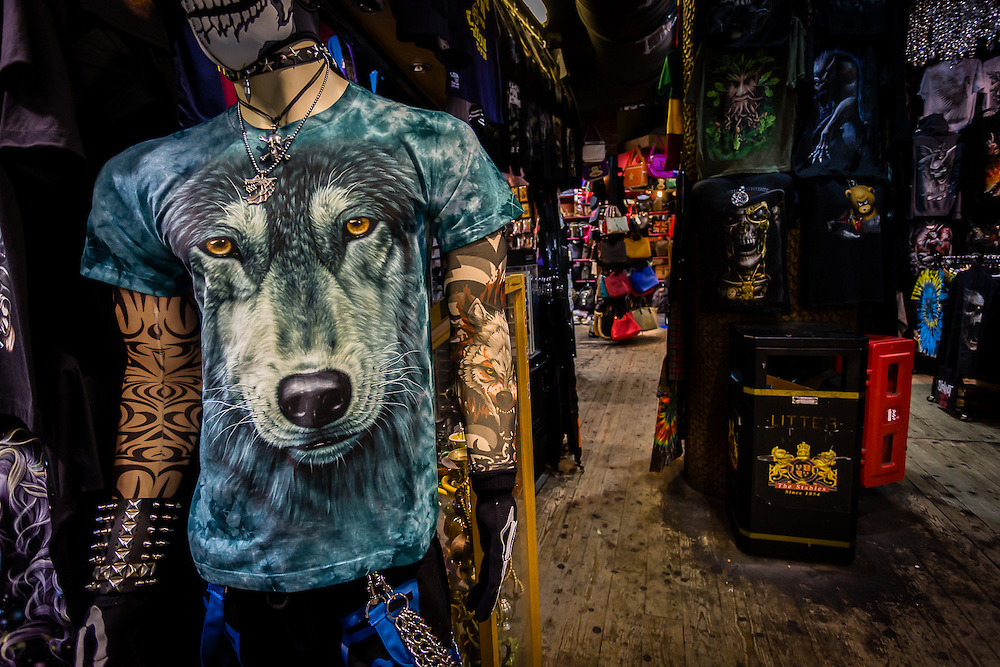 T-shirt shop in Camden