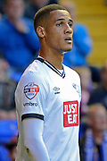 Thomas Ince during the Sky Bet Championship match between Birmingham City and Derby County at St Andrews, Birmingham, England on 21 August 2015. Photo by Alan Franklin.