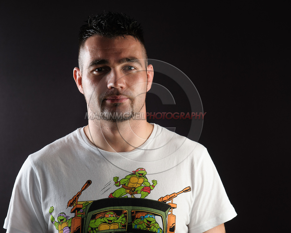 """BIRMINGHAM, ENGLAND, NOVEMBER 3, 2011: John Maguire poses for a portrait after the press conference for """"UFC 138: Munoz vs. Leben"""" inside the Hilton Hotel in Birmingham, England on November 3, 2011."""