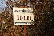 Estate agent To Let sign