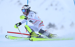 28.01.2018, Lenzerheide, SUI, FIS Weltcup Ski Alpin, Lenzerheide, Slalom, Damen, 1. Lauf, im Bild Katharina Truppe (AUT) // Katharina Truppe of Austria in action during her 1st run of ladie's Slalom of FIS ski alpine world cup in Lenzerheide, Austria on 2018/01/28. EXPA Pictures © 2018, PhotoCredit: EXPA/ Sammy Minkoff<br /> <br /> *****ATTENTION - OUT of GER*****