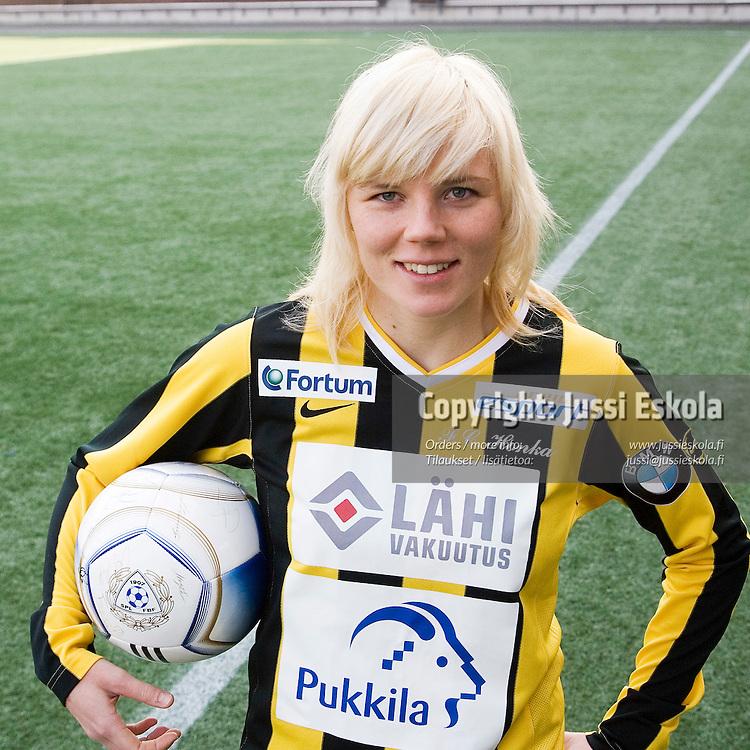 Eveliina Sarapää. Honka. Naisten SM-liigan avausinfo, Helsinki 30.3.2007. Photo: Jussi Eskola
