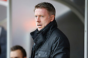 Hartlepool United Manager Craig Hignett during the Sky Bet League 2 match between Crawley Town and Hartlepool United at the Checkatrade.com Stadium, Crawley, England on 19 March 2016. Photo by Andy Walter.