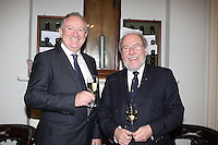 Adrian Yeates MD Volvo Car Ireland , James Horan Commodore Royal Irish Yacht Club  at the launch of 18th Volvo 2016 Round Ireland Yacht Race which was held in the Royal Irish Yacht Club.<br />