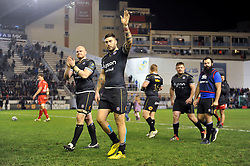 Matt Banahan of Bath Rugby ackwnowledges the Bath supporters in the crowd after the match - Mandatory byline: Patrick Khachfe/JMP - 07966 386802 - 10/01/2016 - RUGBY UNION - Stade Mayol - Toulon, France - RC Toulon v Bath Rugby - European Rugby Champions Cup.