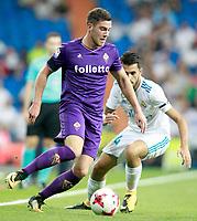 Real Madrid's Dani Ceballos (r) and ACF Fiorentina's Jordan Veretout during Santiago Bernabeu Trophy. August 23,2017. (ALTERPHOTOS/Acero)