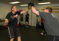 Rock Steady Boxing at the Downtown Gym.  Karen Bobotas for the Laconia Daily Sun