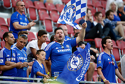 20.07.2016, Wörthersee Stadion, Klagenfurt, AUT, Testspiel, RZ Pellets WAC gegen FC Chelsea im Bild Fans of Chelsea FC // during a football test match between RZ Pellets WAC and FC Chelsea at the Wörthersee Stadium, Klagenfurt, Austria on 2016/07/20, EXPA Pictures © 2016, PhotoCredit: EXPA/ Wolfgang Jannach