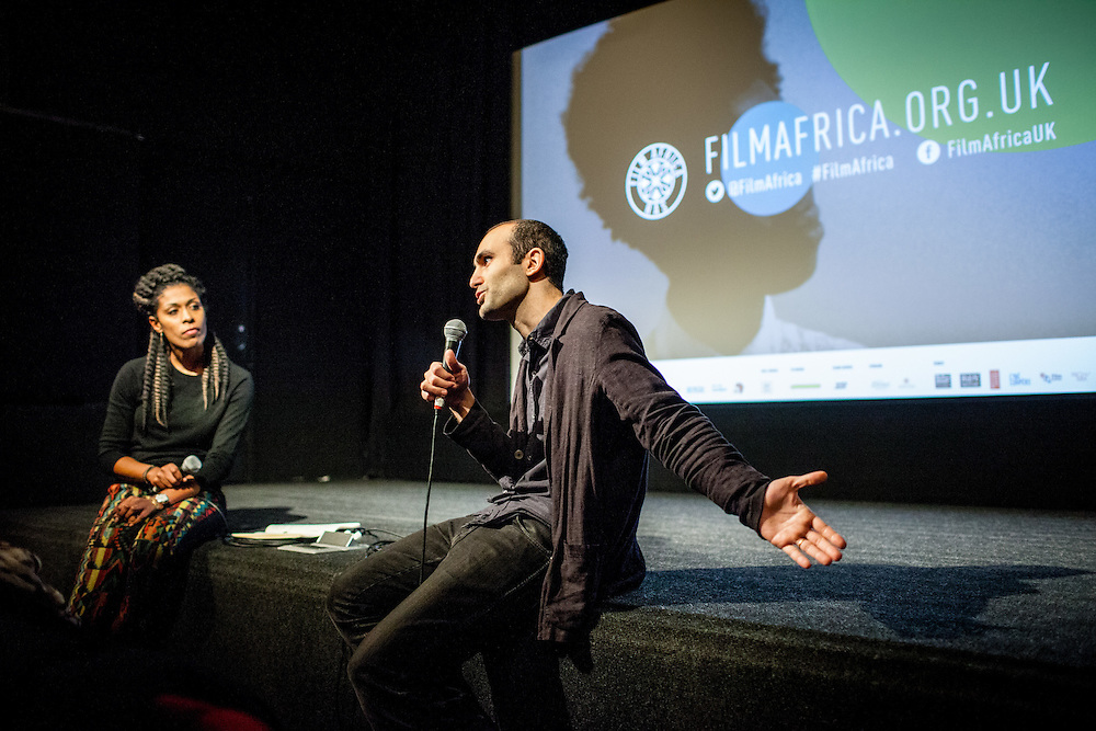 British-Egyptian actor Khalid Abdalla speaks during The Royal African Society's Annual Film Festival 2016 at ICA. London, Saturday 5 November 2016. (Photos/Ivan Gonzalez)