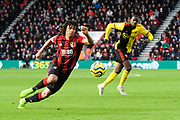 Nathan Ake (5) of AFC Bournemouth on the attack during the Premier League match between Bournemouth and Watford at the Vitality Stadium, Bournemouth, England on 12 January 2020.
