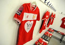 A general view inside the changing room prior to kcik-off- Mandatory by-line: Nizaam Jones/JMP- 31/03/2019 - FOOTBALL - Stoke Gifford Stadium - Bristol, England - Bristol City Women v Reading Women - FA Women's Super League 1