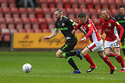 Forest Green Rovers Carl Winchester(7) runs forward during the EFL Sky Bet League 2 match between Crewe Alexandra and Forest Green Rovers at Alexandra Stadium, Crewe, England on 27 April 2019.