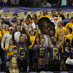 4 March 2009:  LSU Tigers fans in the stands during a 75-67 loss by the LSU Tigers to the Vanderbilt Commodores at the Pete Maravich Assembly Center in Baton Rouge, LA.