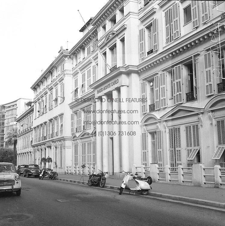 The Radio Monte Carlo Building, Monte Carlo, Monaco in February 1960.