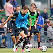 ALKMAAR - 25-06-2017, eerste training AZ. AZ speler Guus Til, AZ speler Wout Weghorst