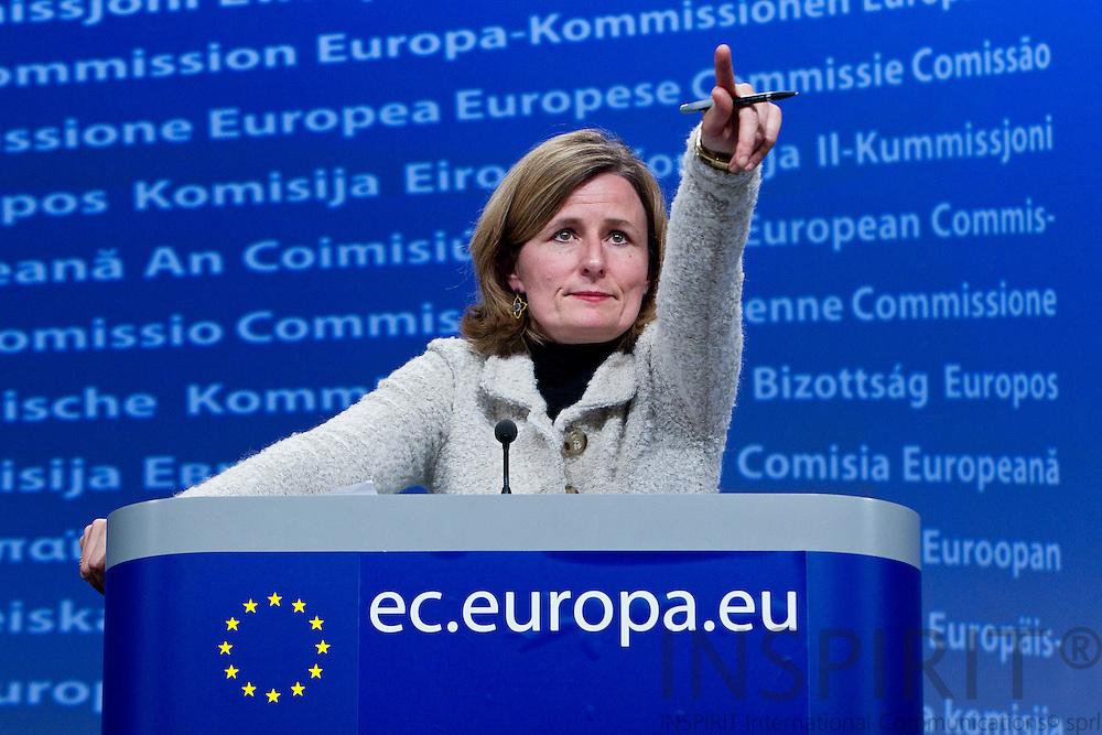 Pia Ahrenkilde Hansen, at the midday briefing as spokeswoman of the European Commission on Monday 12 December 2011. Foto: Erik Luntang / INSPIRIT PHOTO