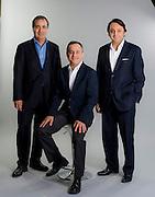 Patricio Lucero, Andres Herrero y Javier Fuenzalida, Gerentes de la Asociación Chilena de Seguridad ACHS. Santiago de Chile, 24-04-2015. (©Alvaro de la Fuente/Triple.cl)