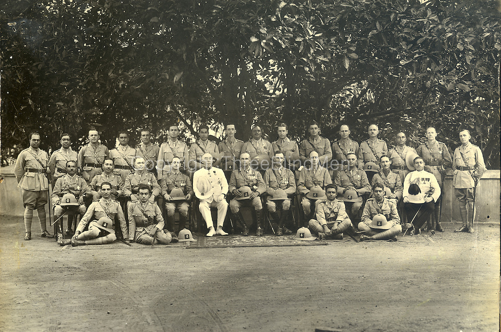 As we see picture.. Guy Sansoni next to the Governor, back row, to the right of Guy is Mervyn Ondaatge and Noel Gratiaen. Waldo Sansoni seated below and to the left of Noel. <br />