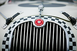 © Licensed to London News Pictures. <br /> 10/09/2017 <br /> Saltburn by the Sea, UK.  <br /> <br /> A Jaguar motor car is displayed during the annual Saltburn by the Sea Historic Gathering and Hill Climb event. Organised by Middlesbrough and District Motor Club the event brings together owners of a wide range of classic cars and motorcycles dating from the early 1900's to 1975. Participants take part in a hill climb to test their machines up a steep hill near the town. Once held as a competitive gathering a change in road regulations forced the hill climb to become a non-competitive event.<br /> <br /> Photo credit: Ian Forsyth/LNP