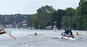 Henley on Thames, England, United Kingdom, 3rd July 2019, Henley Royal Regatta  looking towards the town,, on Henley Reach, [© Peter SPURRIER/Intersport Image]<br />