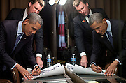 06.JUNE.2012. BEVERLY HILLS<br /> <br /> TRIP DIRECTOR MARVIN NICHOLSON WATCHES AS PRESIDENT BARACK OBAMA SIGNS ITEMS AFTER DELIVERING REMARKS AT THE LGBT LEADERSHIP COUNCIL GALA IN BEVERLY HILLS, CALIF., JUNE 6, 2012.  <br /> <br /> BYLINE: EDBIMAGEARCHIVE.CO.UK<br /> <br /> *THIS IMAGE IS STRICTLY FOR UK NEWSPAPERS AND MAGAZINES ONLY*<br /> *FOR WORLD WIDE SALES AND WEB USE PLEASE CONTACT EDBIMAGEARCHIVE - 0208 954 5968*