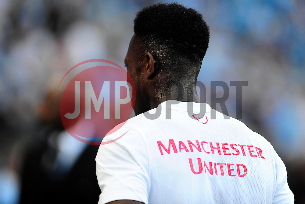 Manchester United written on the back of Danny Welbeck - Photo mandatory by-line: Dougie Allward/JMP - Tel: Mobile: 07966 386802 22/09/2013 - SPORT - FOOTBALL - City of Manchester Stadium - Manchester - Manchester City V Manchester United - Barclays Premier League