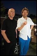 ROY VOSS; HENRY BRUDENELL BRUCE, Matt's Gallery 35th birthday fundraising supper.  42-44 Copperfield Road, London E3 4RR. 12 June 2014.