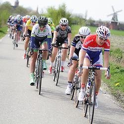 UITHUIZEN wielrennen, De vierde etappe van de Energiewachttour 2014 werd verreden rond Uithuizen. Lucinda Brand was erg actief in de wedstrijd
