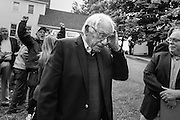 Democratic presidential candidate, Sen. Bernie Sanders, I-Vt holds a press conference at his home in Burlington, VT, Sunday, June 12, 2016. (AP Photo/Cheryl Senter)